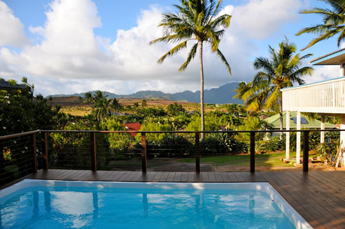 Private pool at Bird of Paradise home, Kauai Vacation Rentals Home at Poipu Beach