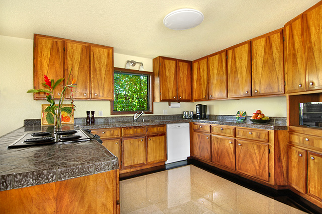 Fully equipped kitchen at our Poipu kauai vacation rental home