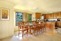 Dinning and kitchen area of Poipu vacation rental